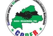 Déclaration de la coalition pour la démocratie et la réconciliation nationale (CODER) sur le dialogue politique