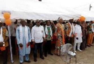 Aboisso/Meeting du mouvement Horizon RHDP : Le Ministre SEKA Seka aux Agnis : » Le Messie ADO a créé le RHDP pour construire la Côte d'Ivoire»