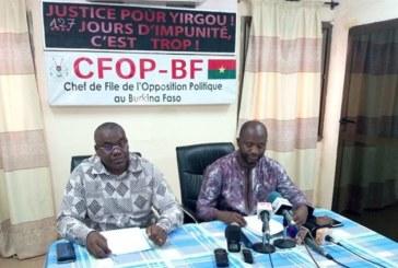 Point de presse hebdomadaire du CFOP : « Le pouvoir MPP est passé du tâtonnement à l'impasse », Achille Rawa Ouédraogo du MPF