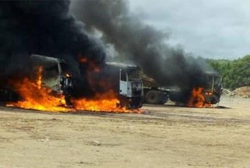 Violence à Youga: Ce qui reste de la mine, des images de la désolation