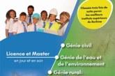 Appel à inscription Ecole Supérieure du Génie Rural et de l'Environnement (E.S.GRE)