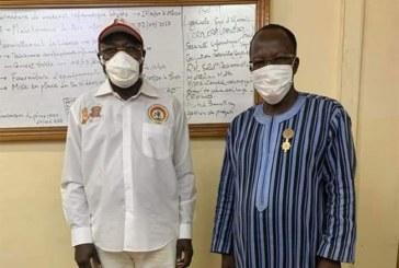 CDP: Aussitôt élu, le candidat à la présidentielle de 2020 Eddie Komboigo rend visite à son adversaire Yahya Zoungrana