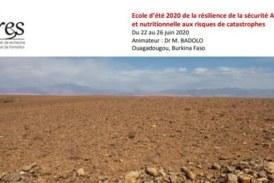 Résilience de la sécurité Alimentaire et nutritionnelle aux risques de catastrophes: Ecole d'été 2020