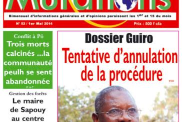 Dossier Guiro : Une tentative d'annulation de la procédure déjouée