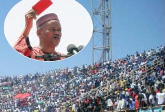 Meeting contre le référendum du CFOP:    «Carton rouge à Blaise Compaoré», Arba Diallo