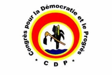 Communiqué de presse du CDP