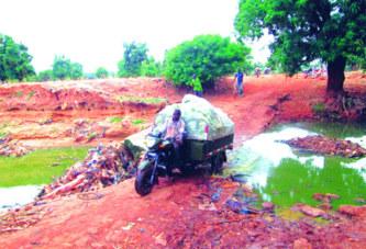 Infrastructures dans les Hauts-Bassins:  La digue de l'axe Banankélédaga-Desso risque de céder