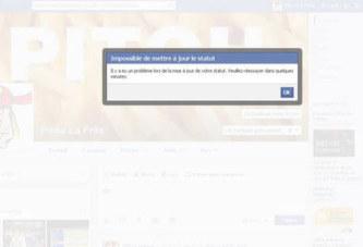 Facebook: retour à la normale suite au plantage