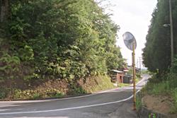 中島清美さんが消息を絶った、自宅近くの裏道