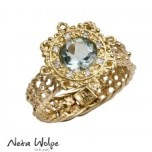 Art Nouveau Antique Style Engagement Ring