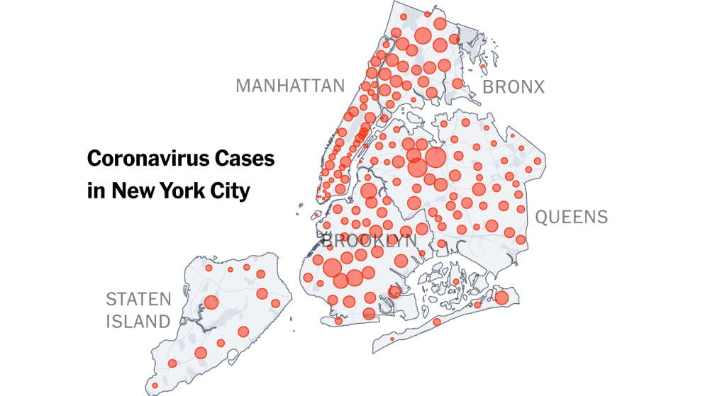 New York approche les chiffres de l'Espagne et de l'Italie avec près de 114 000 infections