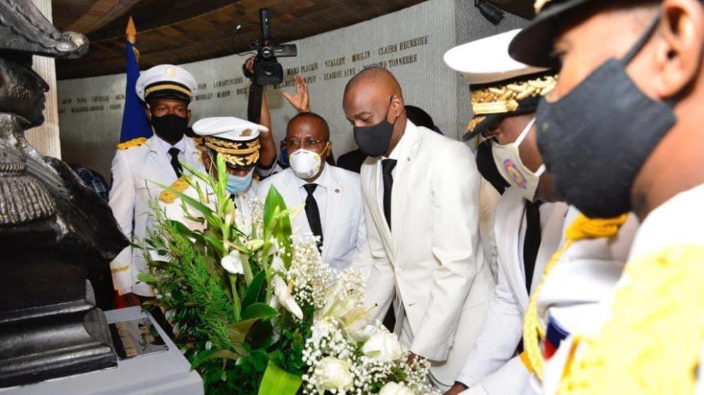Haïti-Actualités:Le Président dépose une gerbe de fleurs au MUPANAH au nom de Jean-Jacques Dessalines