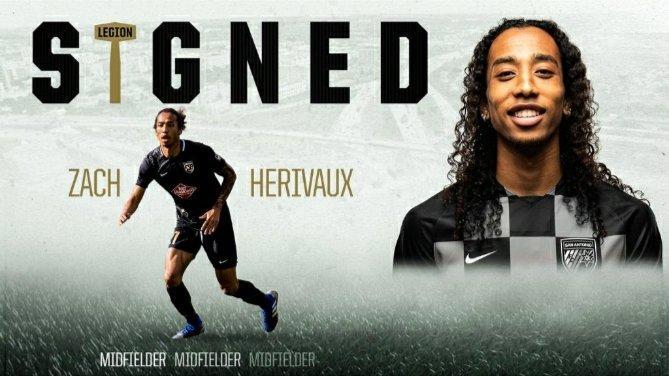 Football – Transfert : Zachary Hériveaux de retour à Bermingham Légion FC aux États-Unis !