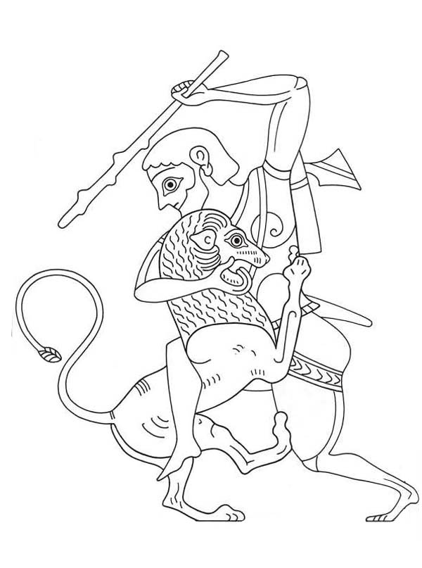 Picture of Greek Gods and Goddesses Coloring Page  NetArt