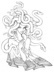 amazing snake hair of medusa coloring