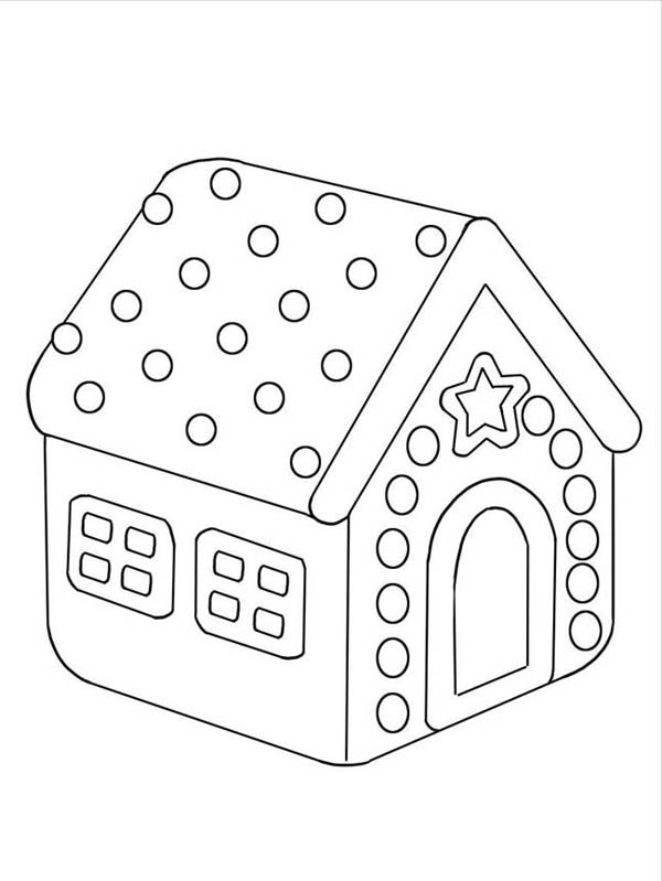 Delight Gingerbread House Coloring Page NetArt