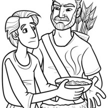 Jacob Blesses His Twelve Sons Coloring Pages Sketch