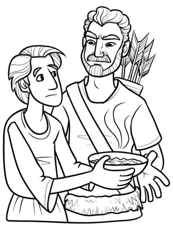 Esau Excange His Birth Right for a Bowl of Stew in Jacob