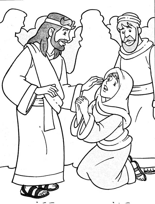 Miracles Of Jesus Coloring Pages : miracles, jesus, coloring, pages, Jesus, Heals, Miracles, Coloring, NetArt