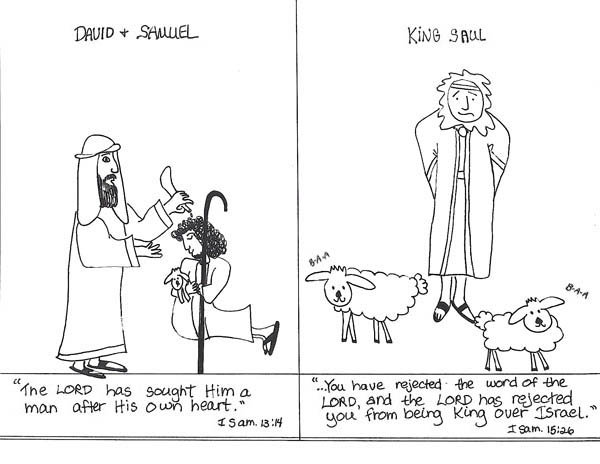 King Saul Rejected the Word of the Lord God Coloring Page