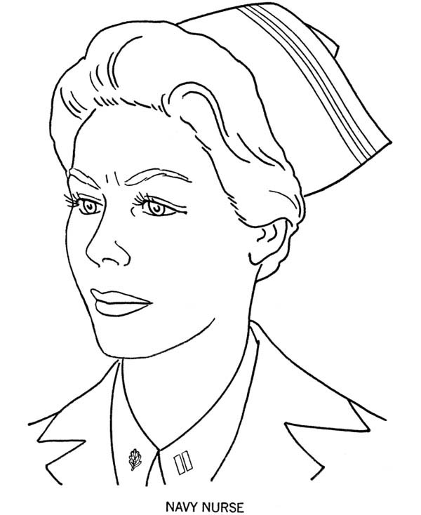 Picture Of Navy Nurse Coloring Page Netart