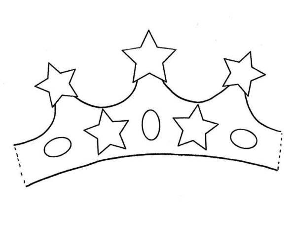 princess crown  five stars of gold coloring page  netart