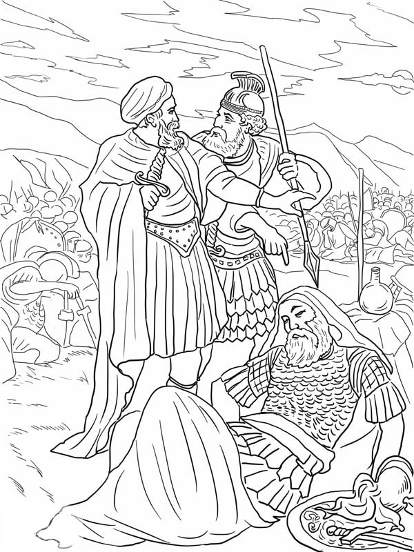 King Saul Coloring Page : coloring, Death, Coloring, NetArt