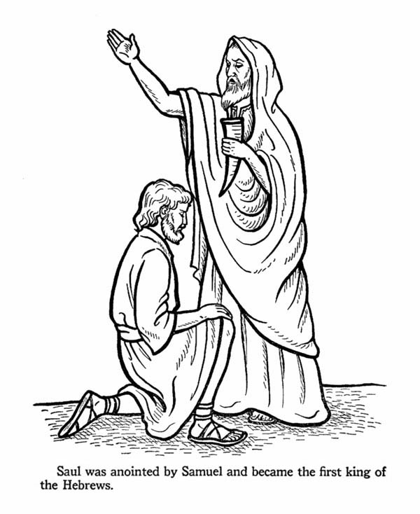 King Saul Coloring Page : coloring, First, Hebrew, Coloring, NetArt