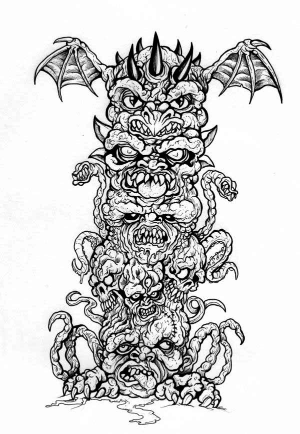 totem pole coloring pages # 33