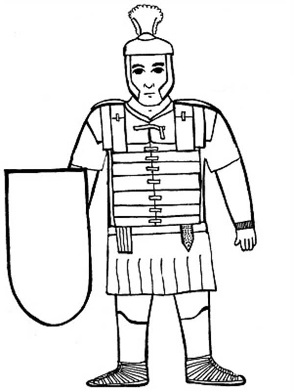 How To Draw A Roman Soldier Roman Soldier Step By Step