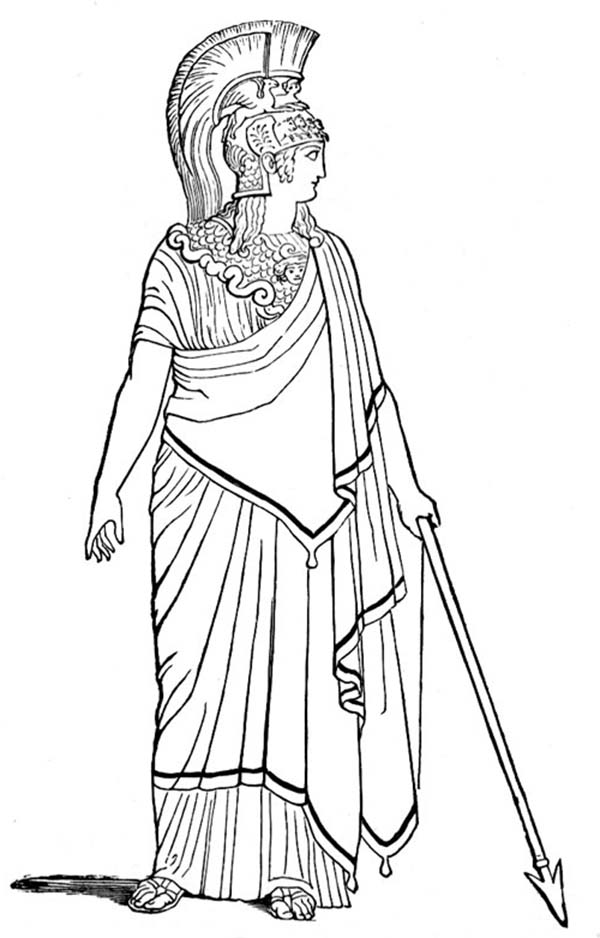 Ancient Rome Goddess Of War Coloring Page NetArt