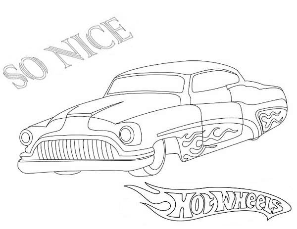 hotwheels  free colouring pages