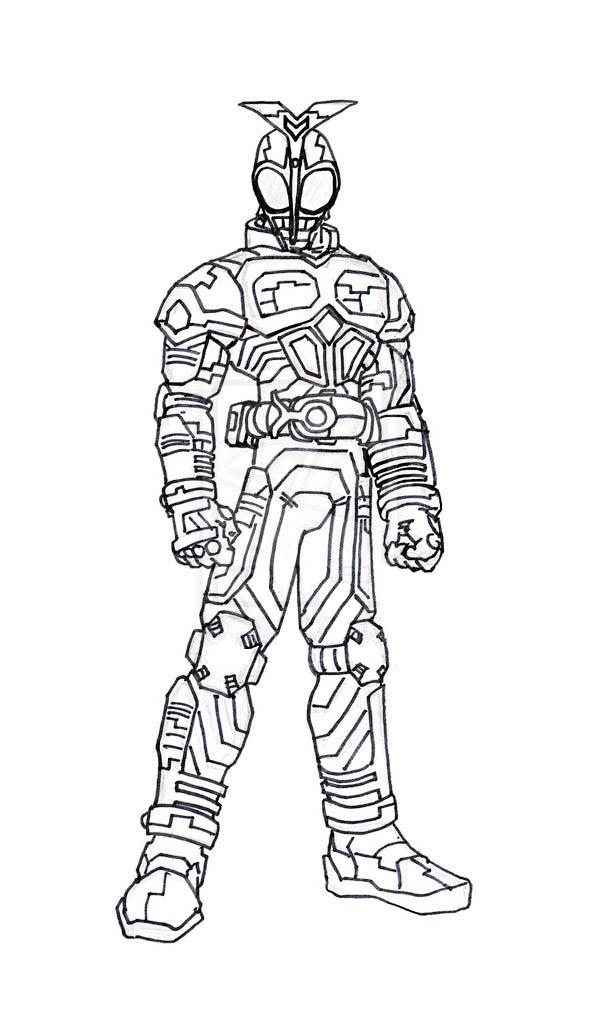 Kamen Rider Kabuto Coloring Page Netart