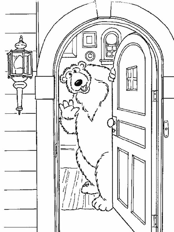 Bear inthe Big Blue House Welcome to My House Coloring