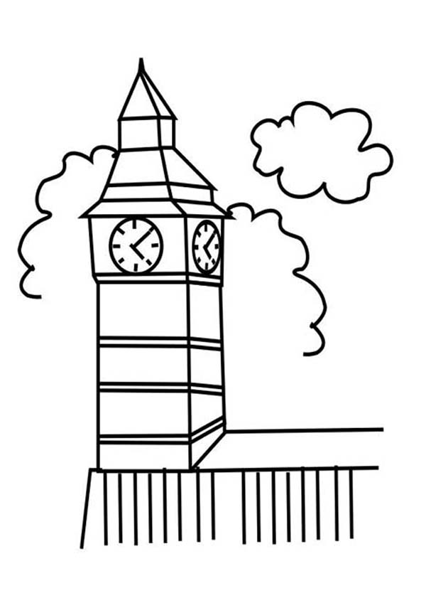 Big Ben Clock Tower in London Coloring Pages  NetArt