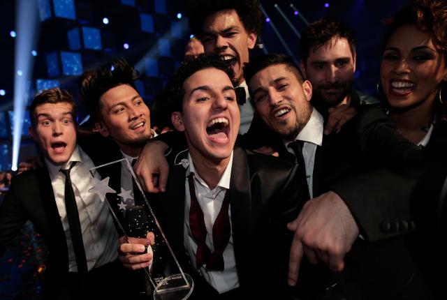 Vinderen af det Danske Melodi Grand Prix 2914 blev Basim med sangen Chliche Love Song. Foto: Bjarne Bergius Hermansen
