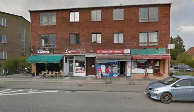 Det var her, at to mænd blev skudt. Foto: Google Streetview.