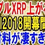 【仮想通貨】リップルXRP上がるぞ!Swell2018開幕間近!!好材料が凄すぎる!!!【暗号通貨】