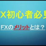 【FX 副業 初心者】FXのメリットとは?