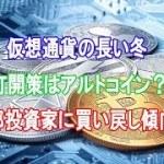 仮想通貨の長い冬 打開策はアルトコイン? 一部投資家に買い戻し傾向