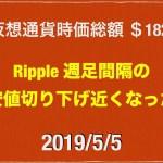 【ビットコイン安定した動き】2019/5/5 仮想通貨時価総額20兆4000億