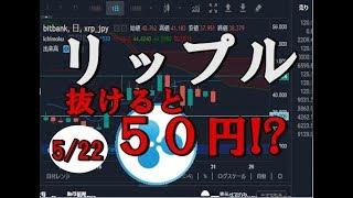 リップル(XRP)抜けると50円!?(仮想通貨、暗号通貨)