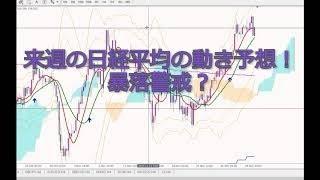 【株・FX・仮想通貨】来週以降の日経平均の動き!暴落警戒?