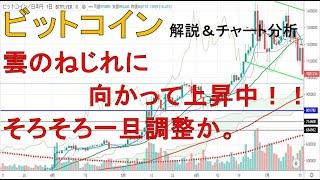 【仮想通貨 ビットコイン(BTC)】雲のねじれに向かって上昇中!そろそろ一旦の調整か。今後のシナリオをチュート分析1.27
