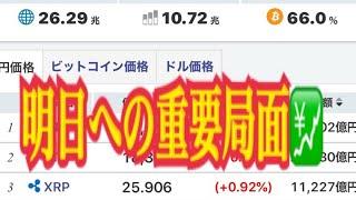 【仮想通貨】リップル最新情報‼️明日への重要局面💹