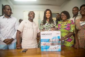 Joselyn Dumas donates CCTV Cameras to Korle-Bu Pediatric Block