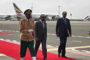 Eritrean leader gets rousing welcome as he returns to Ethiopia