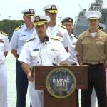US counter China with massive naval exercise