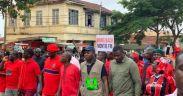 Actor John Dumelo joins demonstration against Akufo Addo