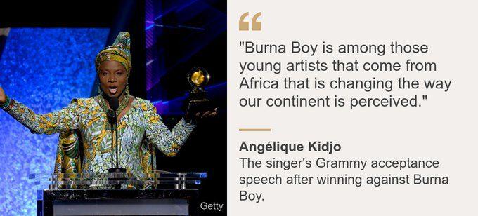Angélique Kidjo beats Burna Boy, brings true Africa Spirit to the Grammys